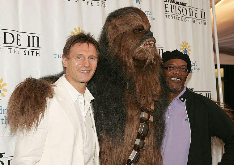 Liam Neeson, Chewbacca, and Samuel L. Jackson