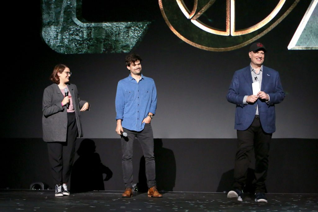 Director Kate Herron and Writer Michael Waldron of 'Loki' and President of Marvel Studios Kevin Feige