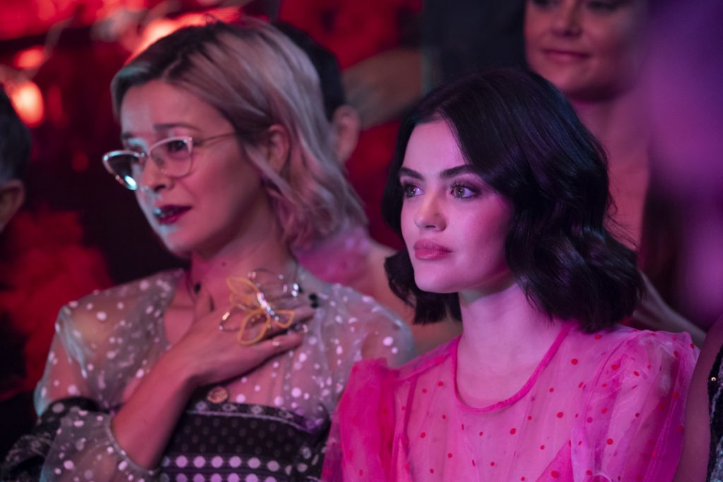 Julia Chan and Lucy Hale
