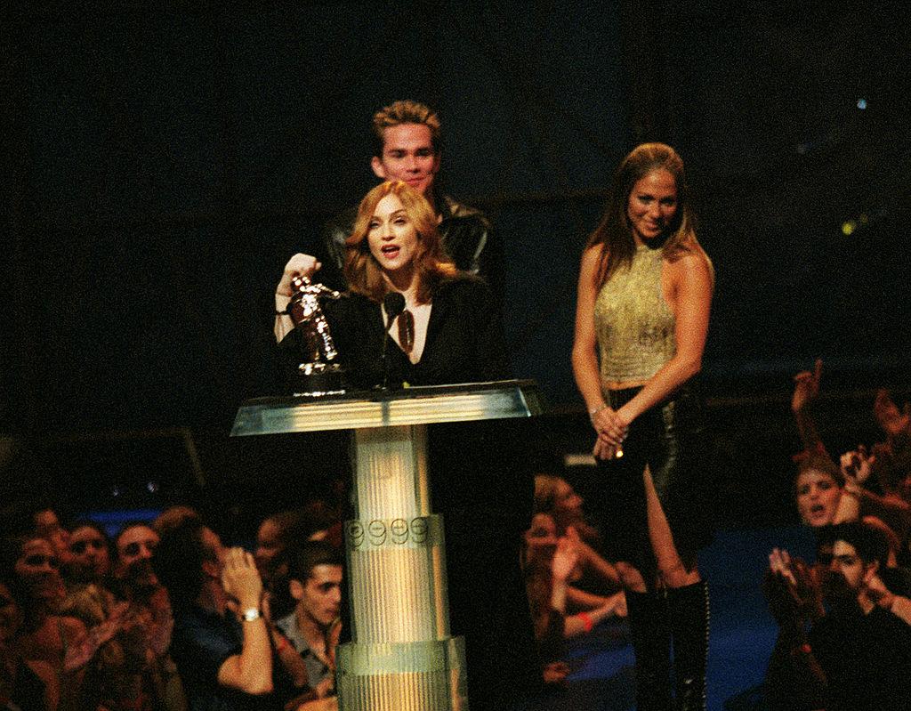 Madonna and J-Lo at the 1999 MTV Music Awards