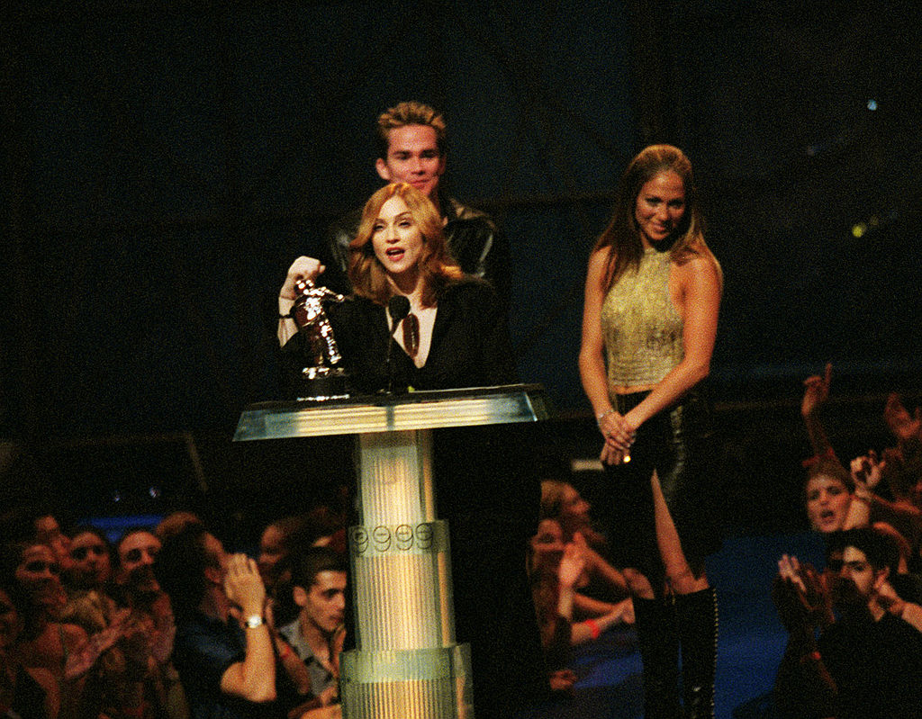 Madonna and J-Lo at the 1999 MTV Music Awards
