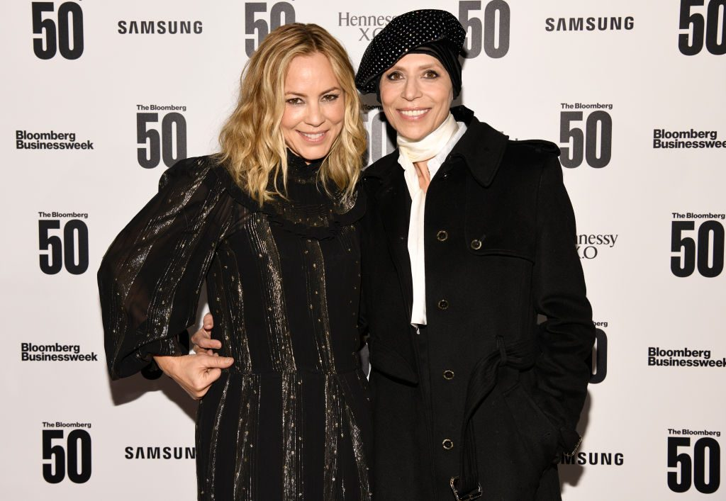NCIS star Maria Bello with chef Dominique Crenn |  Clint Spaulding/Getty Images for Bloomberg