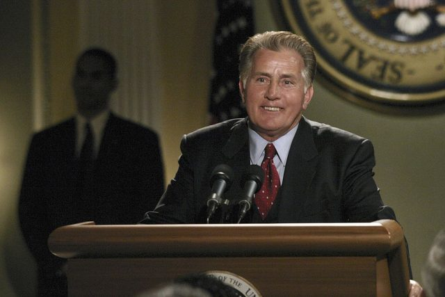 "Martin Sheen as President Josiah ""Jed"" Bartlet on 2005 episode of 'The West Wing'"