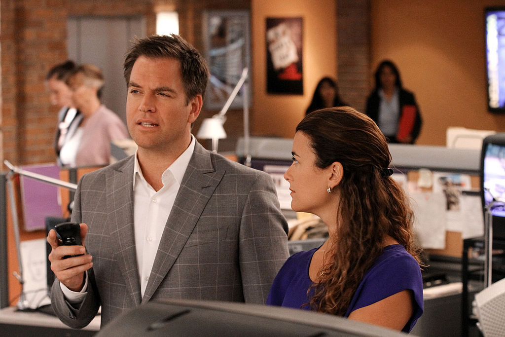 Michael Weatherly and Cote de Pablo on the set of NCIS |  Robert Voets/CBS via Getty Images