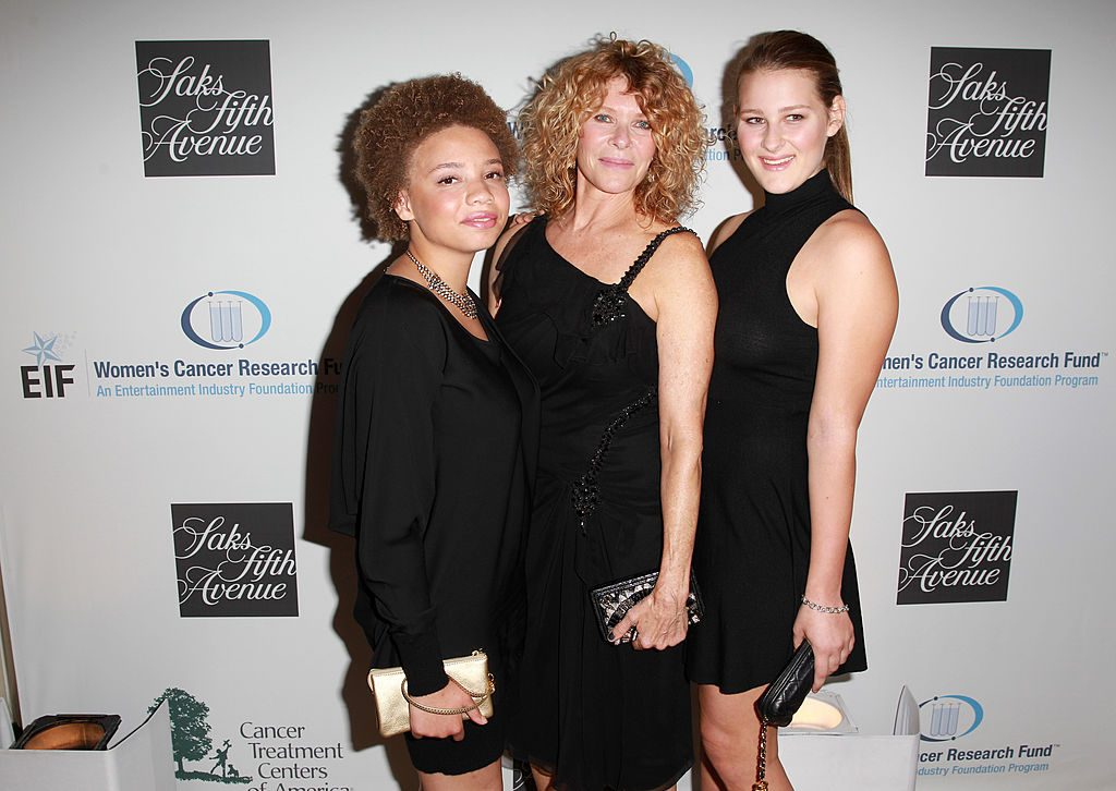 Kate Capshaw and daughters Mikaela George Spielberg and Destry Allyn Spielberg at an event in 2013