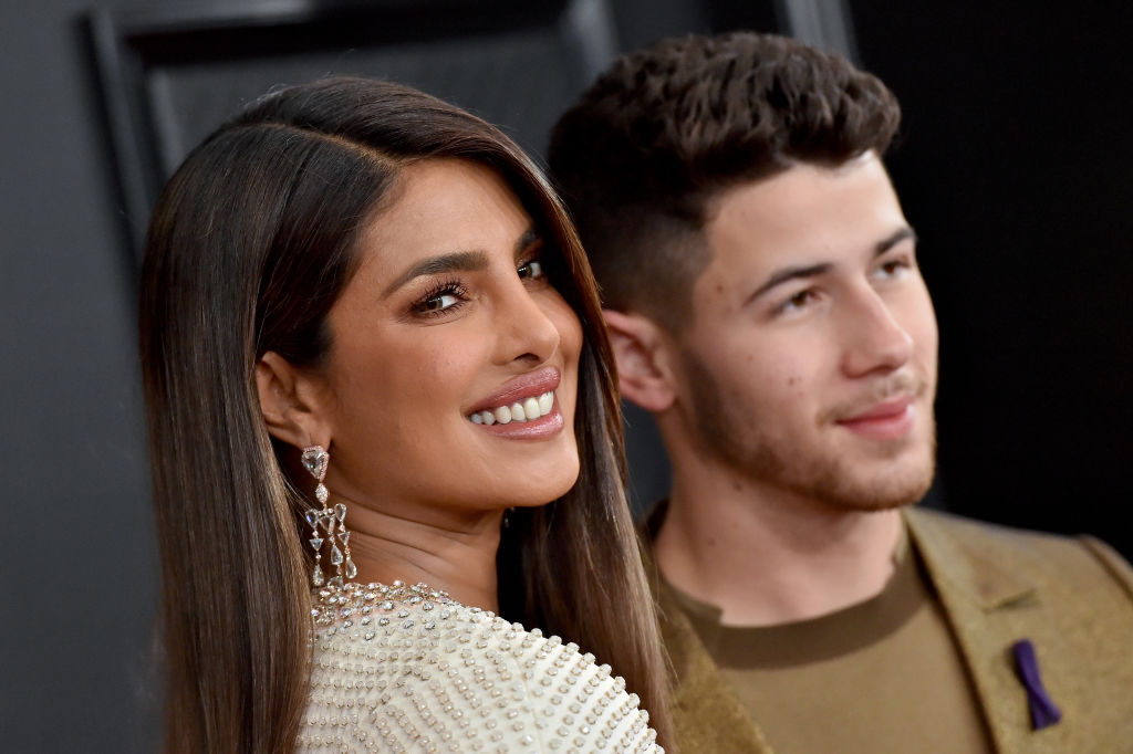 Priyanka Chopra Jonas and Nick Jonas attend the 62nd Annual GRAMMY Awards