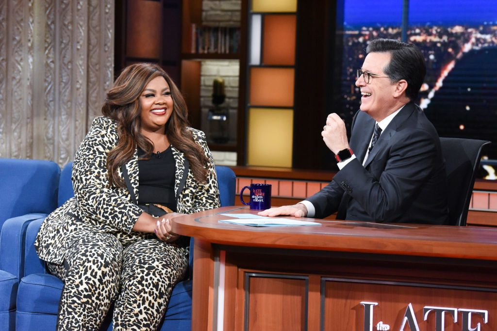 Nicole Byer and Colbert podcast