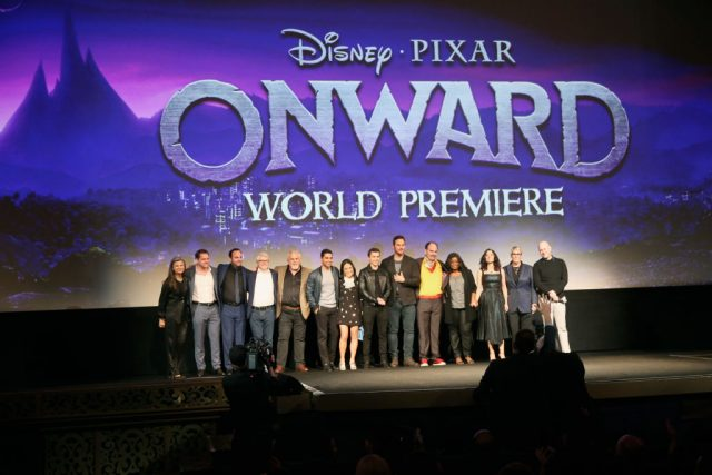 The cast and crew of 'Onward' at the world premiere