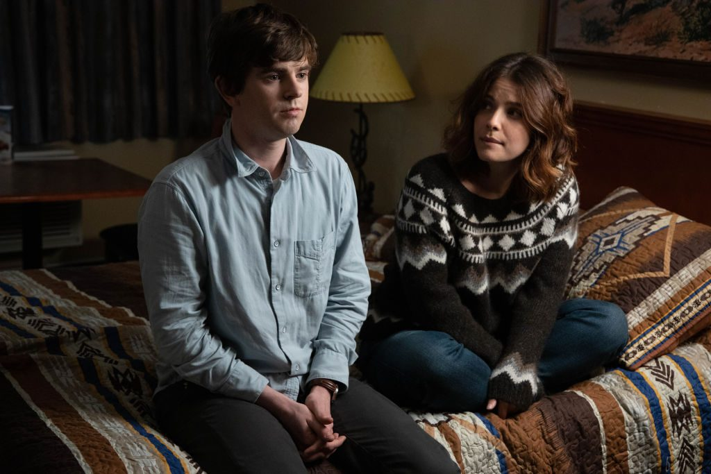 Freddie Highmore and Paige Spara on The Good Doctor | Jack Rowand via Getty Images