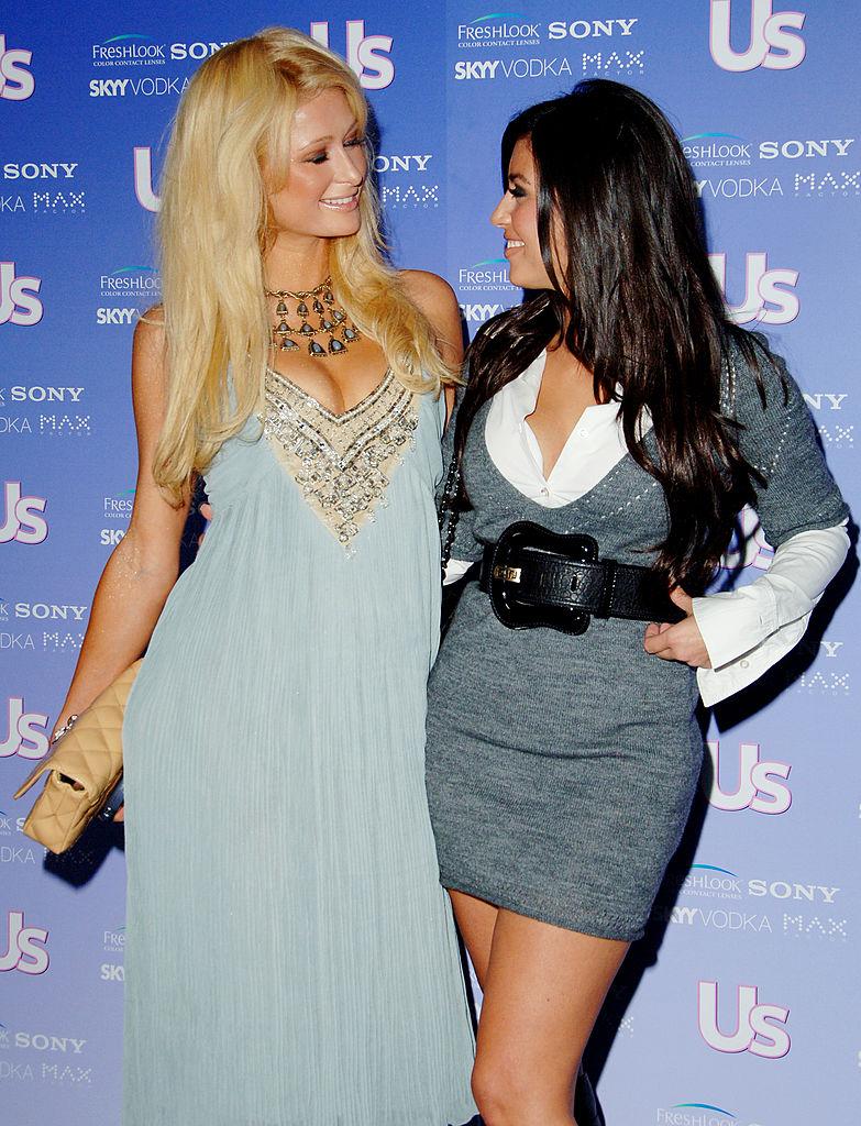 Paris Hilton and Kim Kardashian West | Jon Kopaloff/FilmMagic
