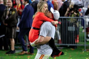 How Did Patrick Mahomes and Brittany Matthews Celebrate the Kansas City Chiefs' Historic Super Bowl Win?