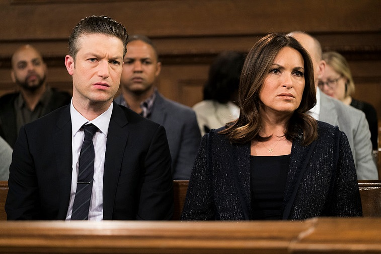 Peter Scanavino and Mariska Hargitay
