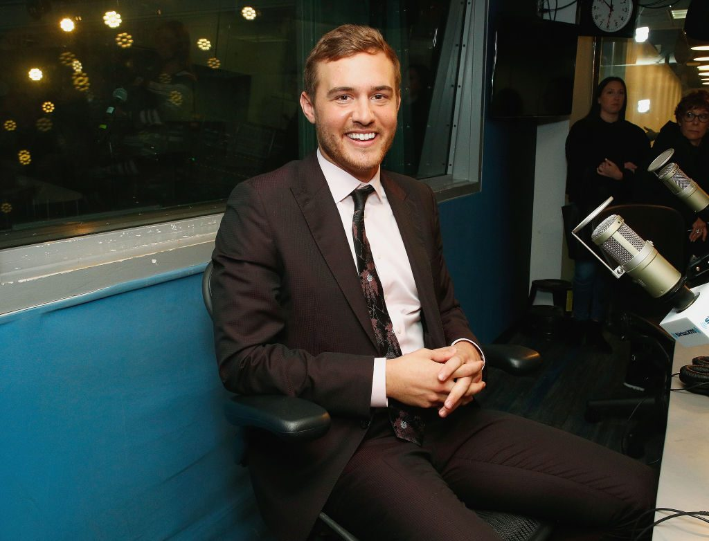"""Peter Weber of ABC's """"The Bachelor"""" visits the SiriusXM Studios on February 04, 2020 in New York City."""