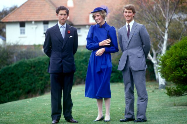 Prince Charles, Princess Diana, and Prince Edward in New Zealand on April 22, 1983