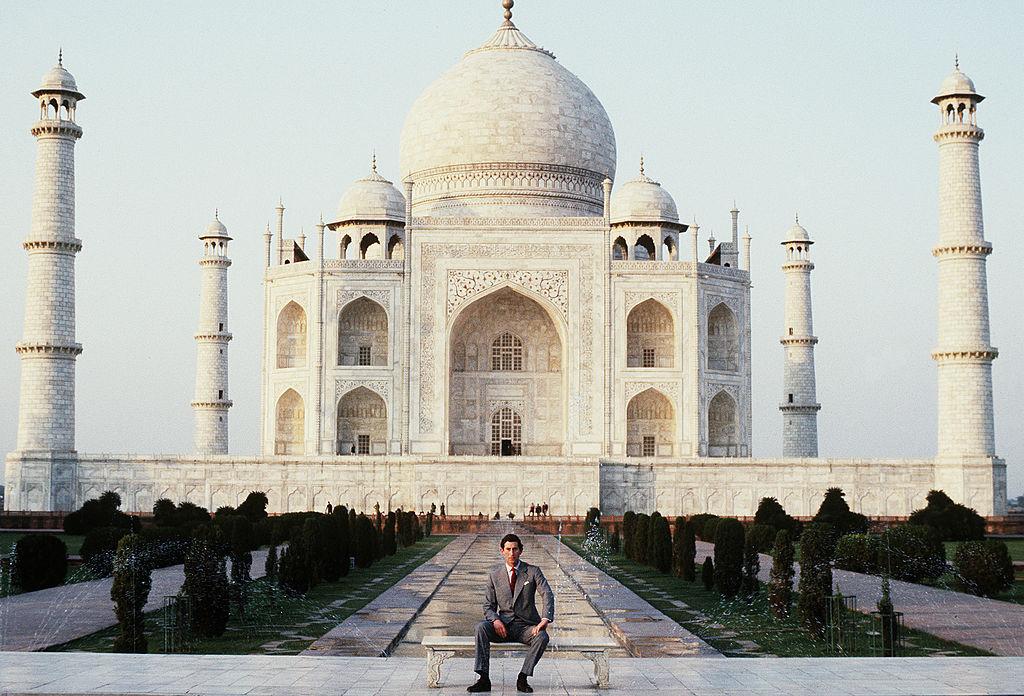 Prince Charles at the Taj Mahal