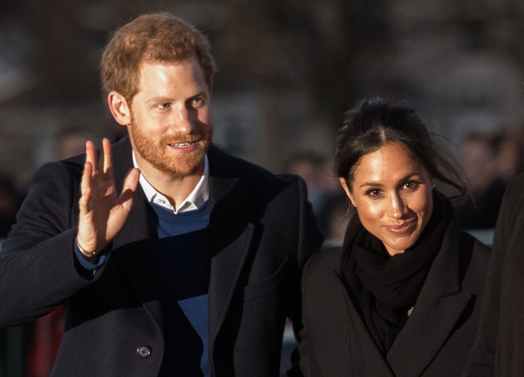 Prince Harry and fiance Meghan Markle visit Star Hub on January 18, 2018 in Cardiff, Wales