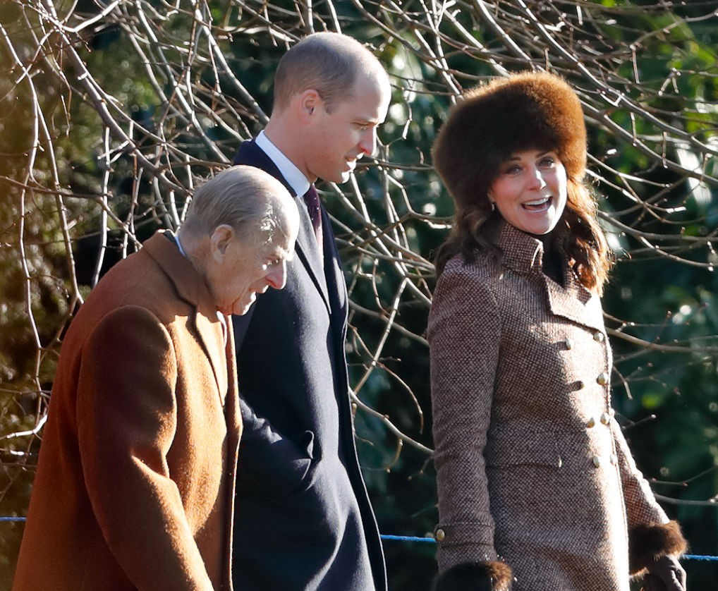 Prince Philip, Prince William, and Kate Middleton