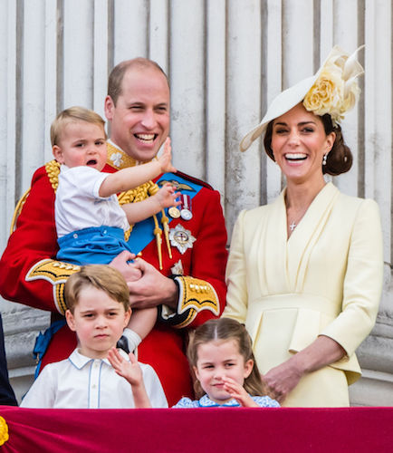 Prince William, Kate Middleton, and their three children, Prince George, Princess Charlotte, and Prince Louis