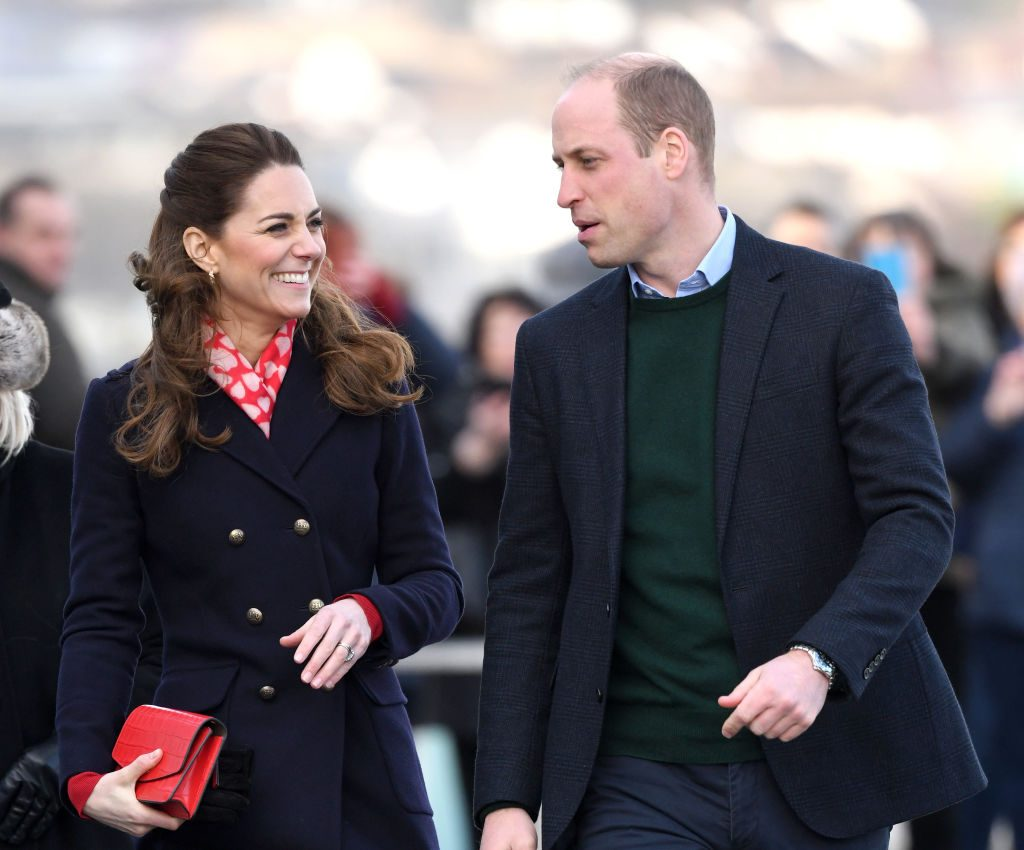 Prince William and Kate Middleton visit the Royal National Lifeboat Institution (RNLI) Mumbles Lifeboat station