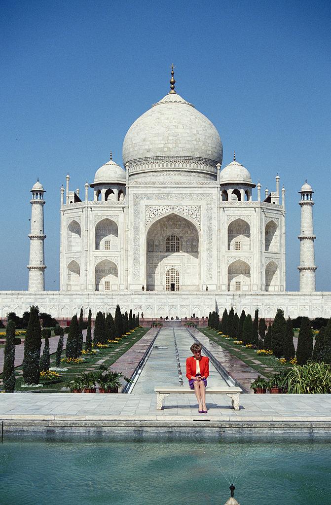 Princess Diana at Taj Mahal