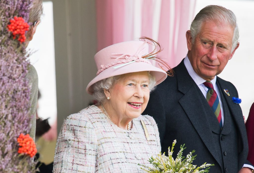 Queen Elizabeth II and Prince Charles attend the 2017 Braemar Highland Gathering at The Princess Royal and Duke of Fife Memorial Park