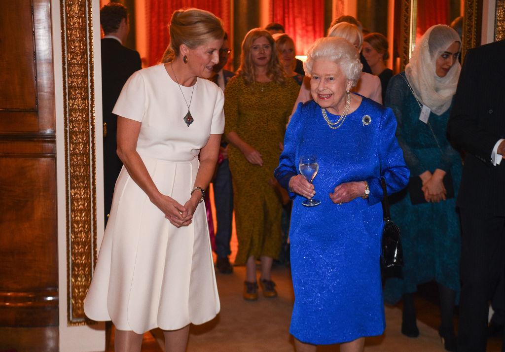 Queen Elizabeth and Sophie