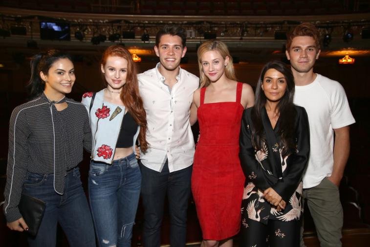 Camila Mendes, Madelaine Petsch, Casey Cott, Lili Reinhart, Marisol Nichols and KJ Apa from 'Riverdale'