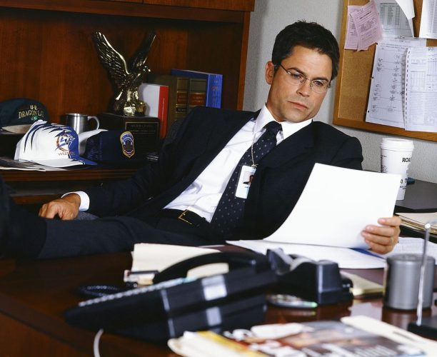 Rob Lowe as Sam Seaborn on 'The West Wing'
