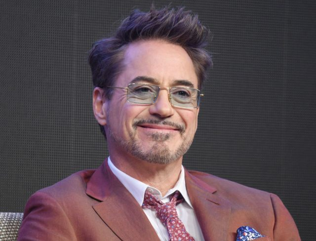 Robert Downey Jr. attends a press conference for 'Avengers: Endgame' in Seoul, South Korea, on April 15, 2019
