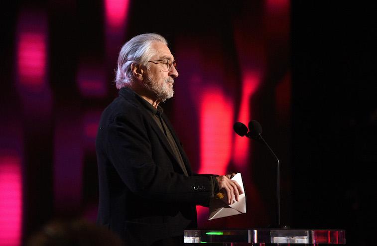 Robert De Niro speaks onstage