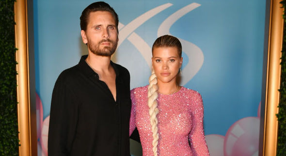 Scott Disick and Sofia Richie at a party in August 2019