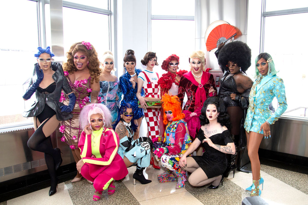 Nicky Doll, Brita Filter, Jan Sport, Jackie Cox, Gigi Goode, Rock M. Sakura, Sherry Pie, Widow Von'Du, Jaida Essence Hall, Heidi N Closet, Dahlia Sin, Crystal Methyd and Aiden Zhane of 'RuPaul's Drag Race' Season 12