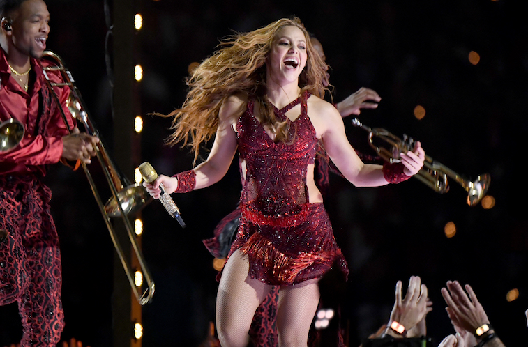 Shakira performs onstage