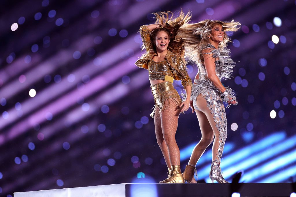 Shakira and J.Lo at the super bowl halftime show