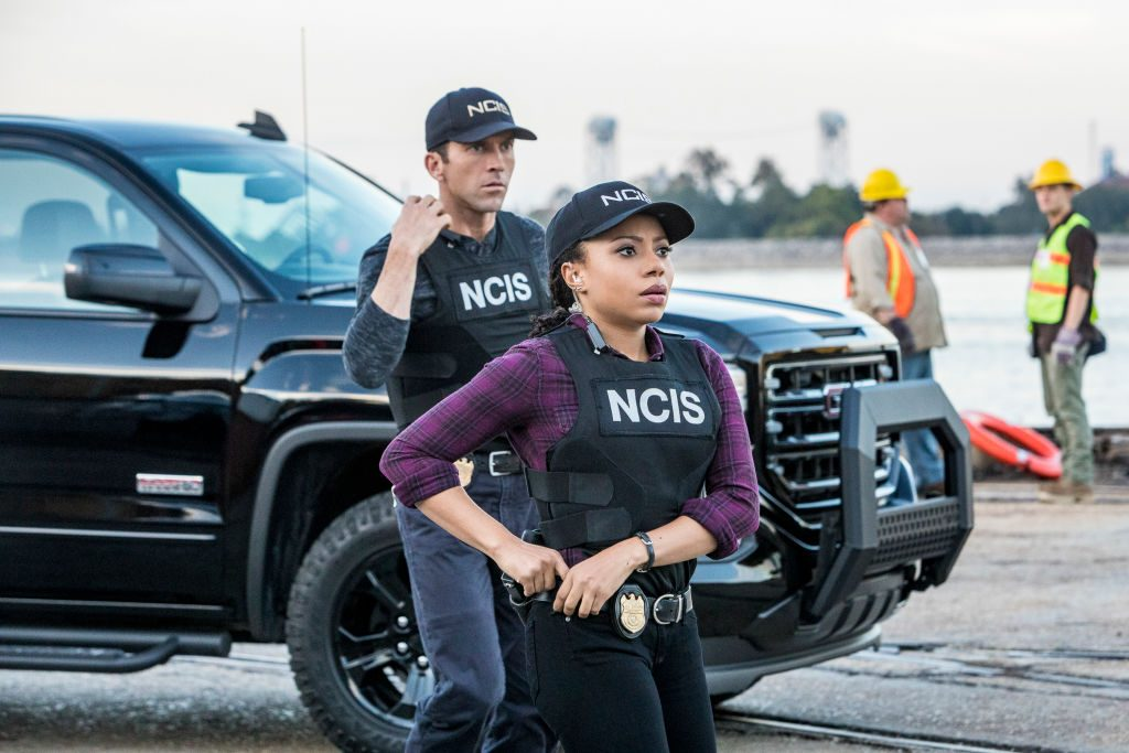Shalita Grant and Lucas Black on NCIS: New Orleans| Skip Bolen/CBS via Getty Images