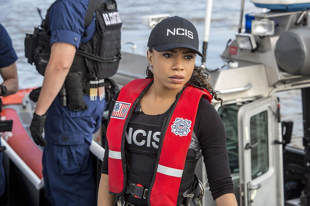 Shalita Grant on the set of NCIS: New Orleans |  Skip Bolen/CBS via Getty Images