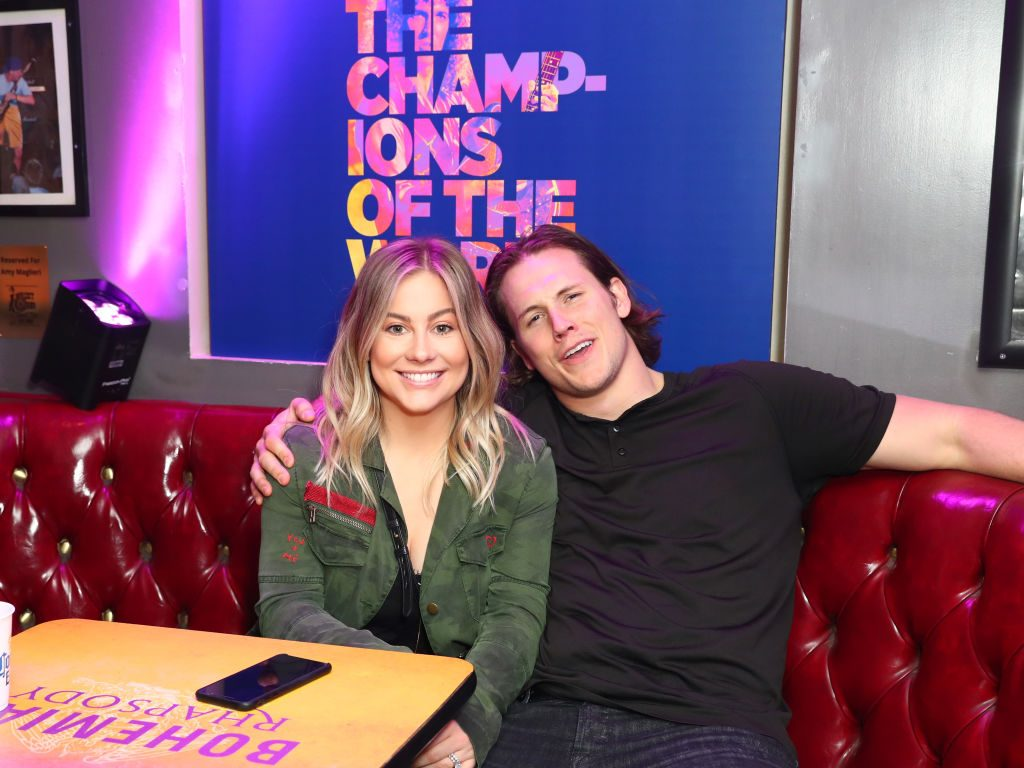 Shawn Johnson East and husband Andrew East attend Bohemian Rhapsody's Get Loud Extravaganza