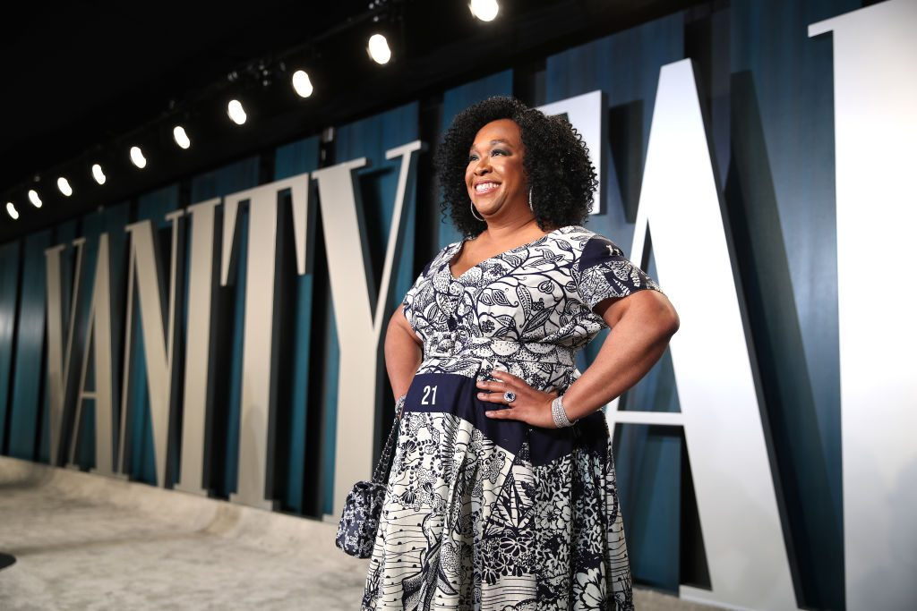 Shonda Rhimes attends the 2020 Vanity Fair Oscar Party hosted by Radhika Jones at Wallis Annenberg Center for the Performing Arts on February 09, 2020 in Beverly Hills, California.