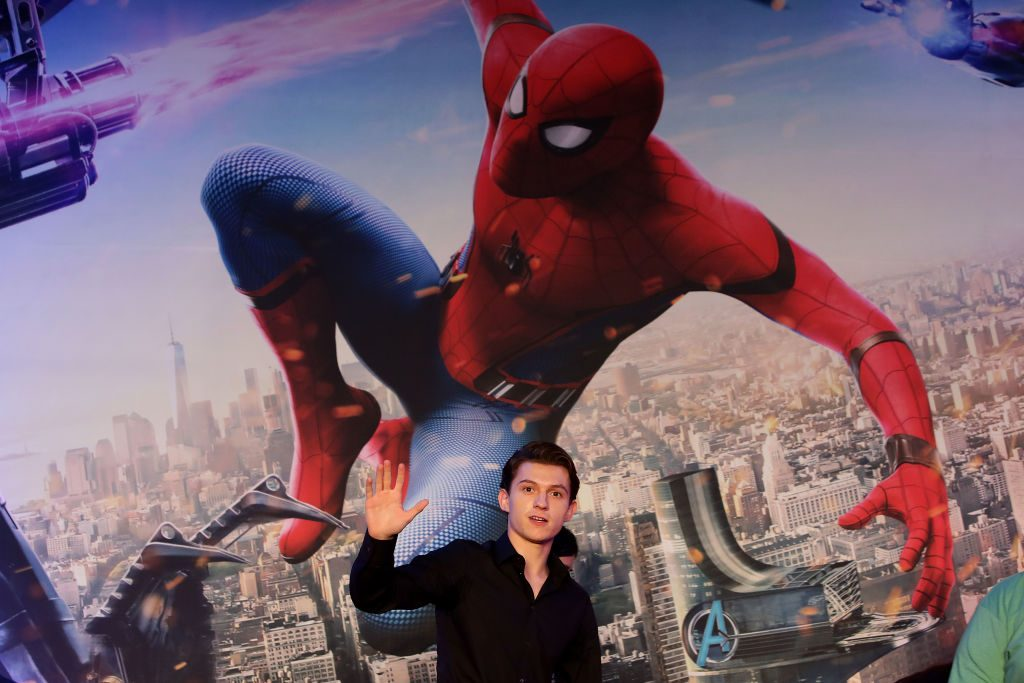 Tom Holland as Spider-Man in the MCU
