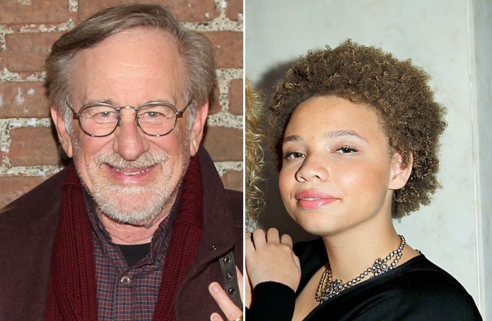 Steven Spielberg and his daughter Mikaela Spielberg
