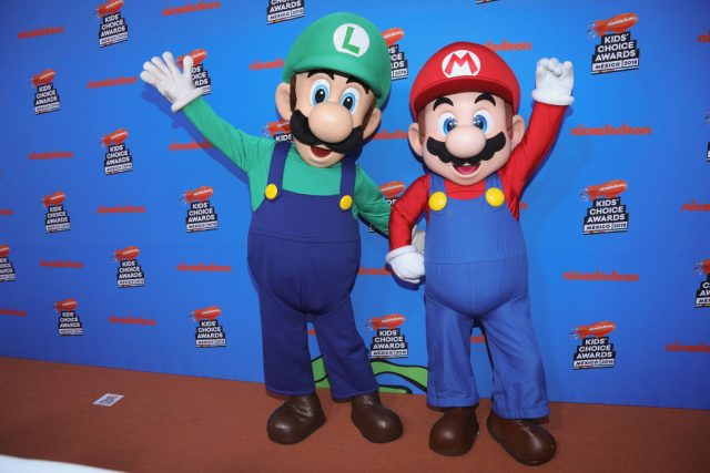 The Super Mario Brothers at the Nickelodeon Kids' Choice Awards Mexico