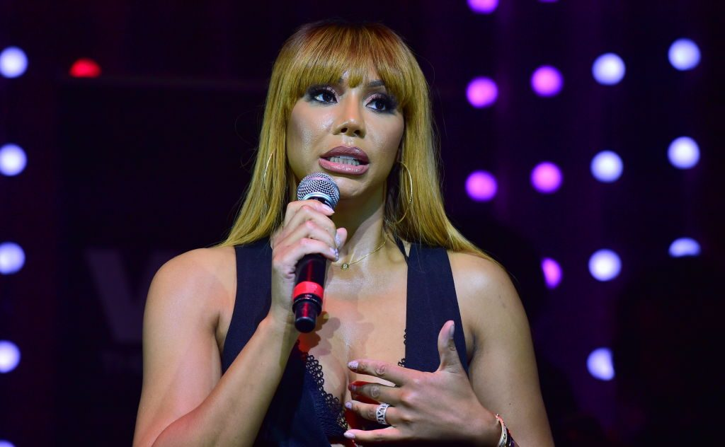 Tamar Braxton onstage at an event in 2017