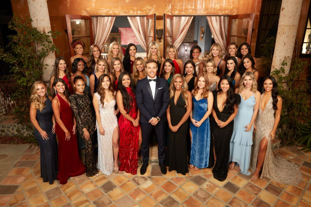 Peter Weber and his contestants on The Bachelor