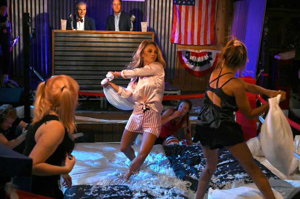 The Bachelor pillow fight