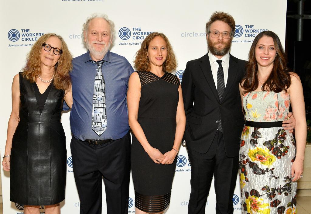 Sandy Rogen, Mark Rogen, Danya Rogen, Seth Rogen, and Lauren Miller attend The Workers Circle 2019 Annual Benefit