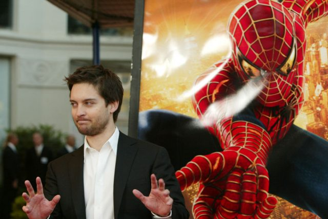 Tobey Maguire at the premiere of 'Spider-Man 2'