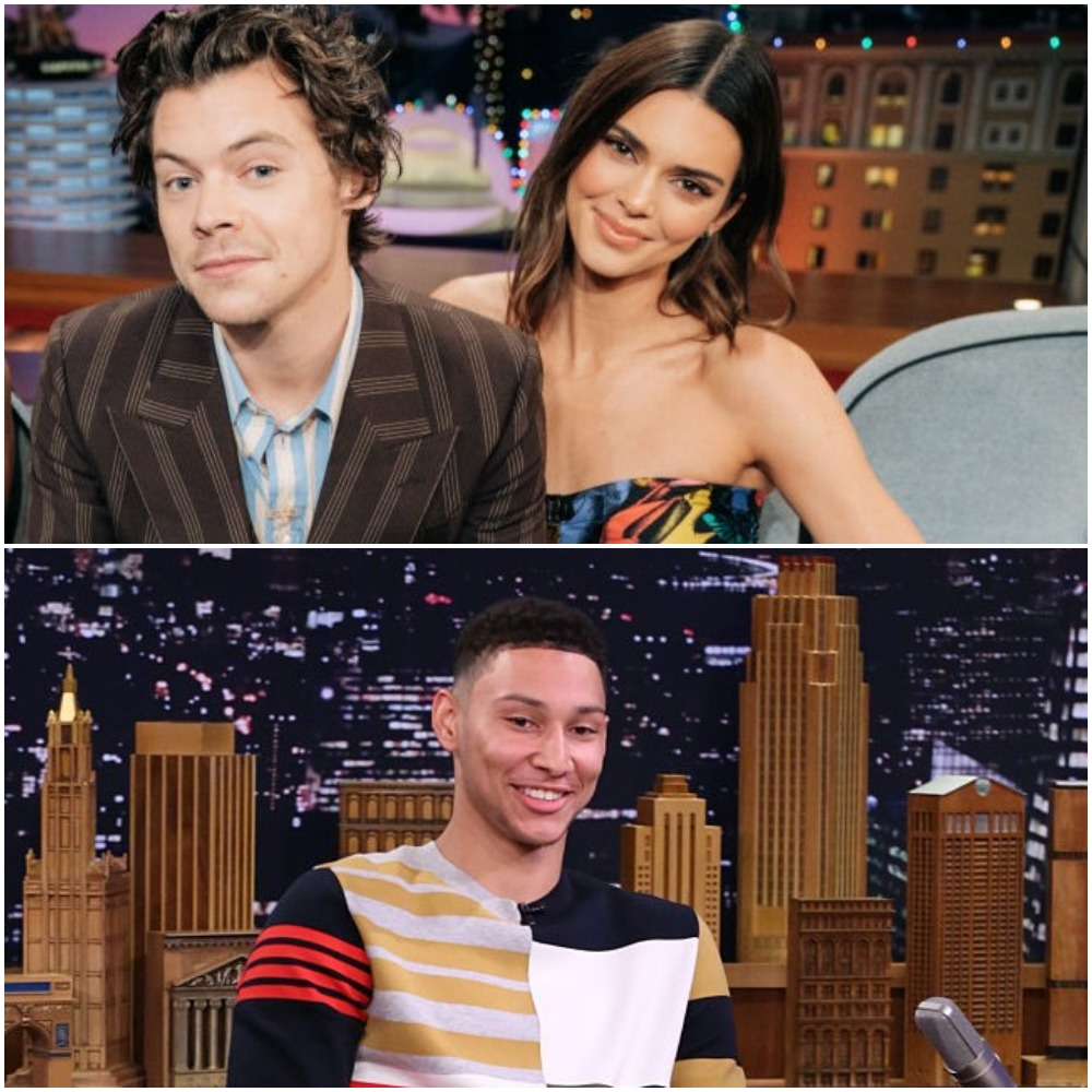 (Top) Harry Styles and Kendall Jenner, (Bottom) Ben Simmons