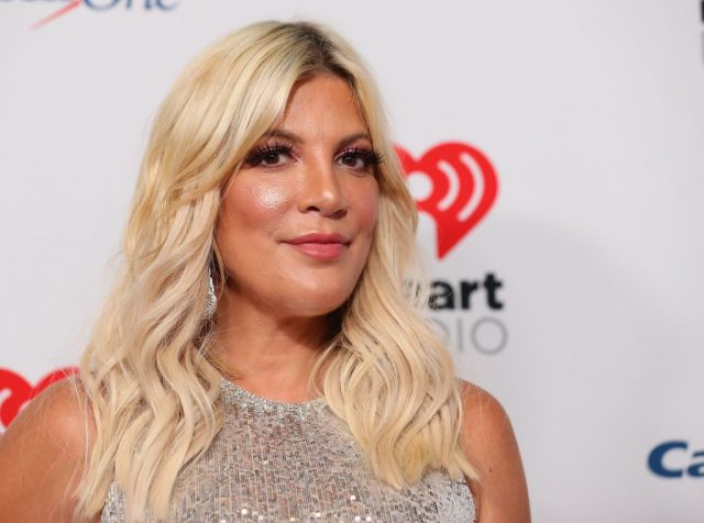 Tori Spelling attends the 2019 iHeartRadio Music Festival on Sept. 20, 2019