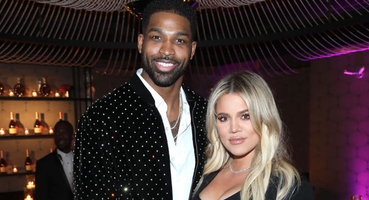 Tristan Thompson and Khloé Kardashian at an event in February 2018