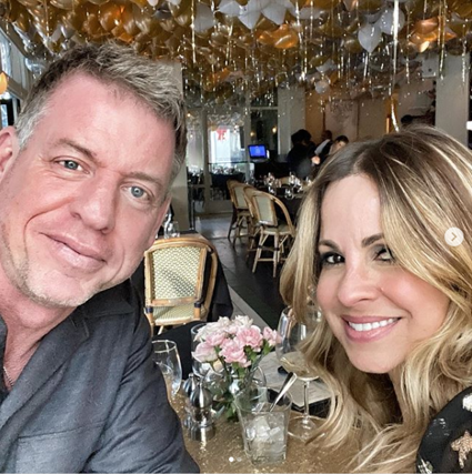 Troy Aikman and his wife, Catherine Mooty